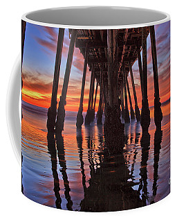 Seaside Reflections Under The Imperial Beach Pier Coffee Mug