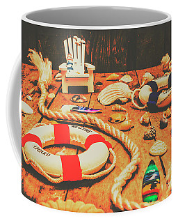 Seaside Ropes And Nautical Decks Coffee Mug