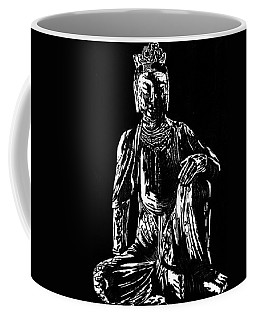 Coffee Mug featuring the drawing Seated Buddha by Ashley Kujan
