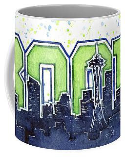 Seattle 12th Man Legion Of Boom Painting Coffee Mug