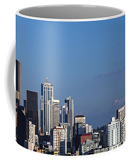 Seattle And Mt Rainier Coffee Mug by Ed Clark
