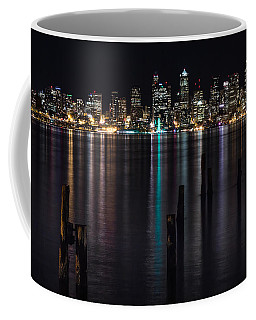 Seattle At Night Coffee Mug