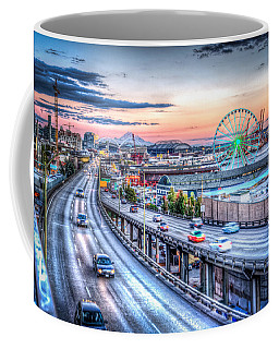 Seattle At Twilight Coffee Mug