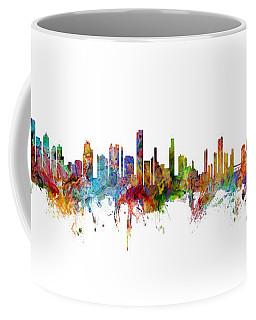 Seattle, Honolulu And Miami Skylines Mashup Coffee Mug