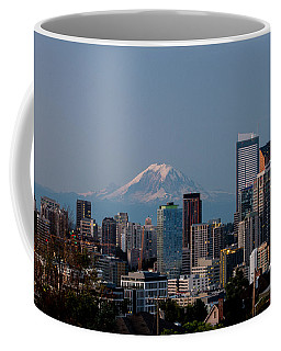 Seattle-mt. Rainier In The Morning Light .1 Coffee Mug