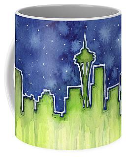 Seattle Night Sky Watercolor Coffee Mug