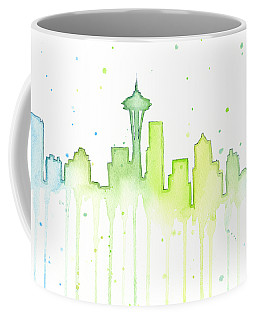 Seattle Skyline Watercolor  Coffee Mug