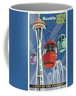 Seattle Poster- Space Needle Vintage Style Coffee Mug