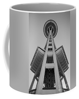 Seattle Space Needle In Black And White Coffee Mug
