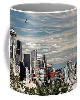 Seattle Space Needle With Mt. Rainier Coffee Mug