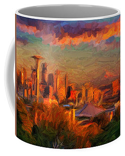 Seattle Sunset 1 Coffee Mug by Caito Junqueira