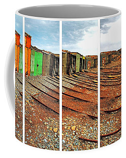 Coffee Mug featuring the photograph Second Valley Boat Sheds by Stephen Mitchell