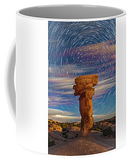 Secret Spire And Star Trails Coffee Mug
