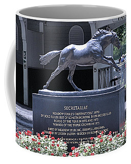 Coffee Mug featuring the photograph Secretariat by  Newwwman
