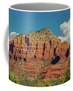 Coffee Mug featuring the photograph Sedona, Rocks And Clouds by Bill Gallagher