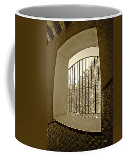 Coffee Mug featuring the photograph Sedona Series - Through The Window by Ben and Raisa Gertsberg