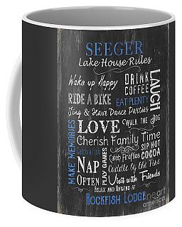 Seeger Lake House Rules Coffee Mug