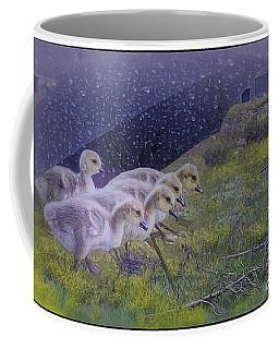 Seeking Shelter From The Storm Digital Artwork By Mary Lou Chmur Coffee Mug