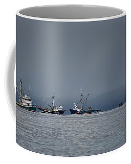 Coffee Mug featuring the photograph Seiners Off Mistaken Island by Randy Hall