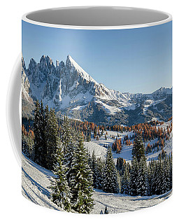 Seiser Alm, Dolomites Meadow In Winter Coffee Mug