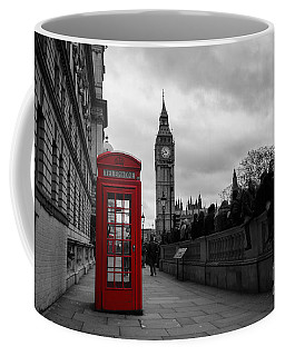 Selective Color Red Telephone Box In London Coffee Mug