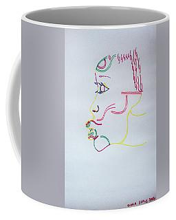 Coffee Mug featuring the drawing Selene by Gloria Ssali