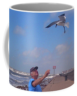 Self Portrait 6 - On Galveston Seawall Circa 2010 Coffee Mug