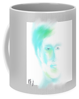 Coffee Mug featuring the digital art Portrait Abstract by Frank Bright