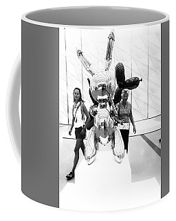 Self Portrait In Jeff Koons Mylar Rabbit Balloon Sculpture Coffee Mug