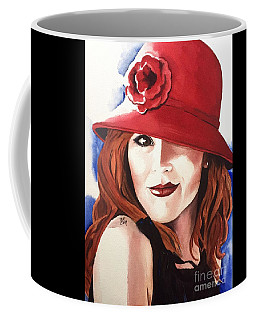 Coffee Mug featuring the painting Self Portrait by Michal Madison