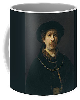 Self-portrait Wearing A Hat And Two Chains  Coffee Mug