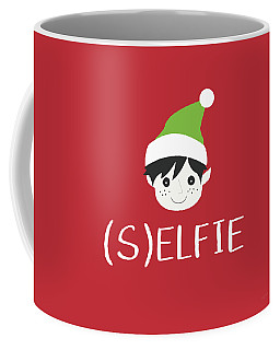Selfie Elf- Art By Linda Woods Coffee Mug