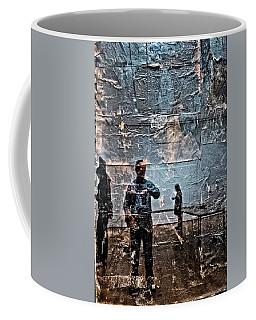 Selfie In Black Painting Coffee Mug