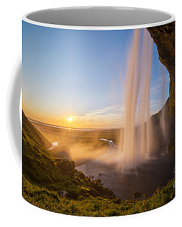 Seljalandsfoss Sunset Iceland Coffee Mug