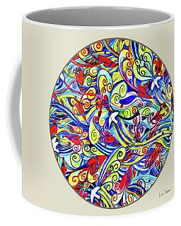 Semi Abstract Paintings Button Coffee Mug