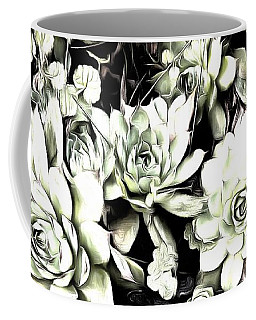 Sempervivum - Ebony And Ivory  Coffee Mug by Janine Riley