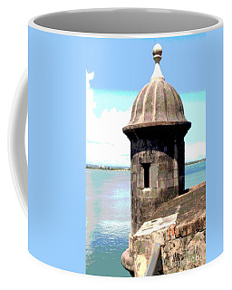 Coffee Mug featuring the photograph Sentry Box In El Morro by The Art of Alice Terrill