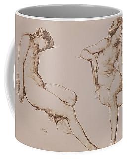 Sepia Drawing Of Nude Woman Coffee Mug