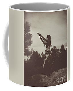 Sepia Forest Belly Dance Coffee Mug