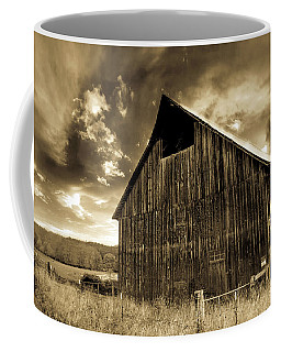 Sepia Historic Barn Coffee Mug