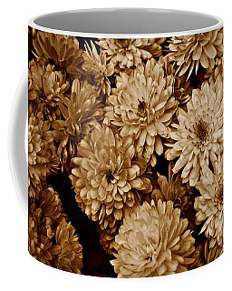 Coffee Mug featuring the photograph Sepia Mums by Patricia Strand