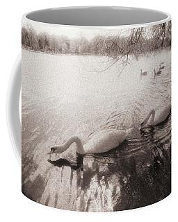 Sepia Swans Coffee Mug