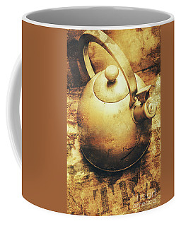 Sepia Toned Old Vintage Domed Kettle Coffee Mug