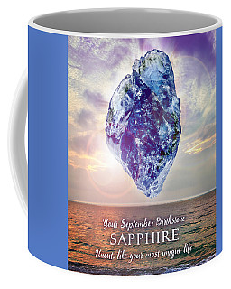 September Birthstone Sapphire Coffee Mug
