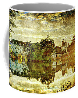 September Sunset In Chenonceau - Vintage Version Coffee Mug