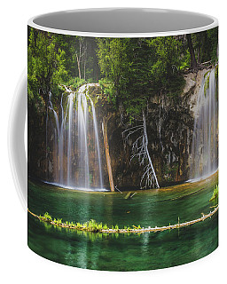 Serene Hanging Lake Waterfalls Coffee Mug