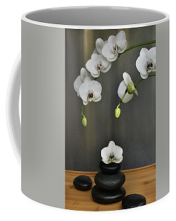 Coffee Mug featuring the photograph Serene Orchid by Terence Davis