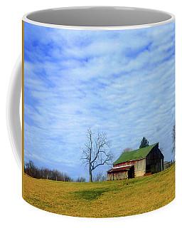 Serenity Barn And Blue Skies Coffee Mug by Tina M Wenger