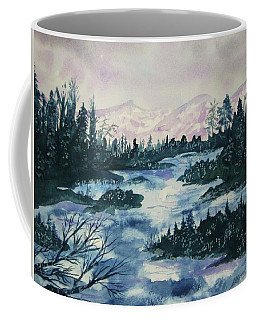Coffee Mug featuring the painting Serenity IIi by Ellen Levinson