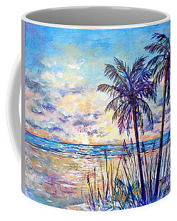 Serenity Under The Palms Coffee Mug by Lou Ann Bagnall
